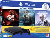 Sony PlayStation 4 Slim 1TB GT Sport + God of War + Horizon Zero Dawn