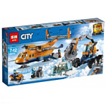 Lepin Cities 02112 Арктическая экспедиция: Грузовой самолёт аналог Lego 60196