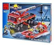 Enlighten Brick Пожарные 907 Спасатель: Катер и перевозчик