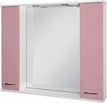 Ювента Франческа ФШН33-87 шкаф с зеркалом розовый