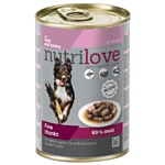 Nutrilove (0.415 кг) 1 шт. Dogs - Fine chunks with veal and turkey