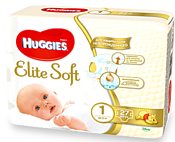 Huggies Elite Soft 1 (2-5 кг) 27 шт.