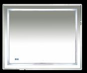 Misty Зеркало 2 Неон 100 (с часами, сенсор на корпусе)