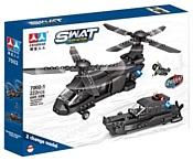 Chaobao SWAT Team Action 7002-1 Вертолёт и катер