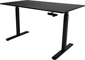 ErgoSmart Manual Desk (дуб мореный/черный)