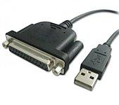 USB 2.0 тип A - LPT 1.1 м