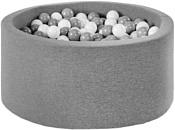 Misioo 90x40 200 шаров (серый)