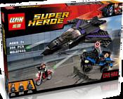 Lepin Marvel 07033 Преследование Черной Пантеры аналог Lego 76047