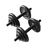Pro fitness Cast Dumbbell Set - 20kg