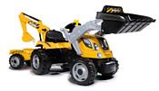 Smoby Трактор педальный Builder Max с 2-мя ковшами и прицепом