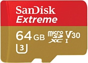 Sandisk Extreme microSDXC UHS-I 64GB (SDSQXAF-064G-GN6MA)