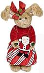 Bearington Зайка в красном платье с Дедом морозом (36 см) (986042)