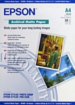 Epson Archival Matte Paper A4 50 листов (C13S041342)