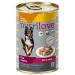 Nutrilove (0.415 кг) 1 шт. Dogs - Fine chunks with chicken and pasta