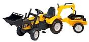 Falk Трактор-экскаватор с прицепом и двумя ковшами (2085XC)