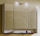 Alavann Шкаф с зеркалом Layra 100 (белый кальцит)