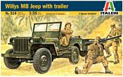 Italeri 0314 Армейский внедорожник Jeep Willys