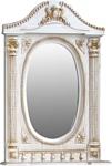 Atoll Зеркало Наполеон 85 (белый жемчуг, патина золото)