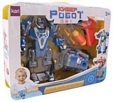 Kari Кибер-робот 3 в 1 80700550 Робот и машина (синий)