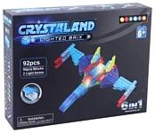 Crystaland Lighted Brix SHG015 Военный самолет 6 в 1