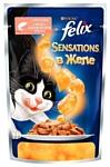 Felix (0.085 кг) 1 шт. Sensations с Лососем в желе со вкусом трески