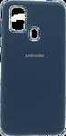 EXPERTS SOFT-TOUCH case для Samsung Galaxy M21 с LOGO (космический синий)