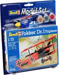 Revell 64116 Подарочный набор Немецкий самолет Fokker Dr.1 Triplane