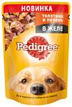 Pedigree (0.1 кг) 1 шт. Для взрослых собак всех пород с телятиной и печенью в желе