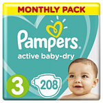 Pampers Active Baby-Dry 3 Midi (208 шт)