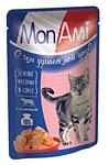 MonAmi (0.085 кг) 26 шт. Кусочки в соусе для кошек Телятина