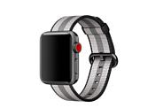 Apple из плетеного нейлона 38 мм (черная полоска) MQVG2
