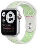 Apple Watch SE GPS + Cellular 44mm Aluminum Case with Nike Sport Band