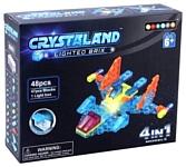 Crystaland Lighted Brix SHG001 Самолет 4 в 1