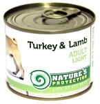 Nature's Protection Консервы Dog Adult Light Turkey & Lamb (0.2 кг) 1 шт.