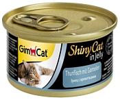 GimCat (0.07 кг) 48 шт. ShinyCat с тунцом и креветками