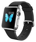 Apple Watch 38mm Stainless Steel with Black Classic Buckle (MJ312)