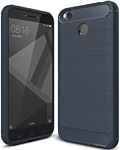 Case Brushed Line для Xiaomi Redmi 4X (синий)