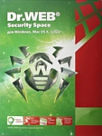 Dr.Web Security Space (3 ПК, 1 год)