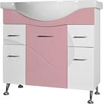 Ювента Франческа 5-100 тумба под умывальник розовая