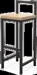 Millwood СДН-6 Крам/L (дуб золотой Craft/металл черный)