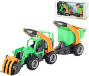 Полесье ГрипТрак трактор-погрузчик с полуприцепом 37411