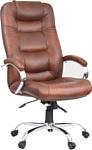 OfficeMarket Авиатор хром (кожа, светло-коричневый)