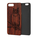 Case Wood для Apple iPhone 7/8 (палисандр, филин)