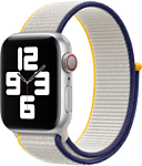 Apple из плетеного нейлона 40 мм (бледно-серый) MJFR3