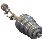 Атлант-Спорт с металлическими дисками 70 кг + 2 грифа для гантелей (состав 1)