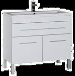 Aquanet Верона 100 напольная, 1 ящик, 2 дверцы, белый (182710)
