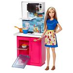 Barbie Doll & Kitchen Playset DVX54