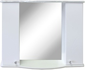 Гамма Шкаф с зеркалом 08Т (белый)