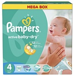 Pampers Active Baby-Dry 4 Maxi (132 шт.)