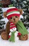 Bearington Мишка в шапочке со снеговичком (36 см) (173178)